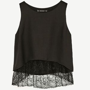 🟣2 for 25$ | Sexy lace tank | Zara